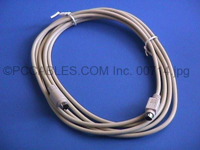 10FT KEYBOARD-MOUSE CABLE MINIDIN6 Male to Male PS/2 PS2