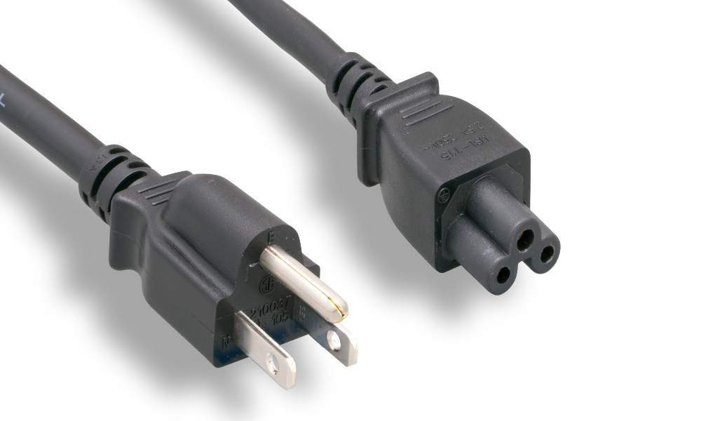 6FT Power Cable Tri IEC320 C5 C-5