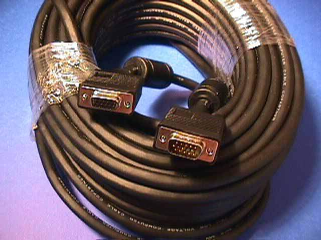 75FT SVGA CABLE MONITOR UL2919 HD15 EXTENSION Male to Female