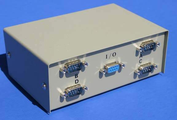 DB9 ABCD 4-MALE 1-FEMALE PORTS SWITCH