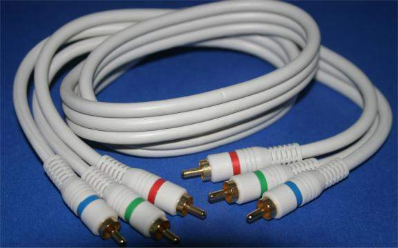 HDTV COMPONENT VIDEO DIGITAL TV TRIPLE RCA SHIELDED 3FT