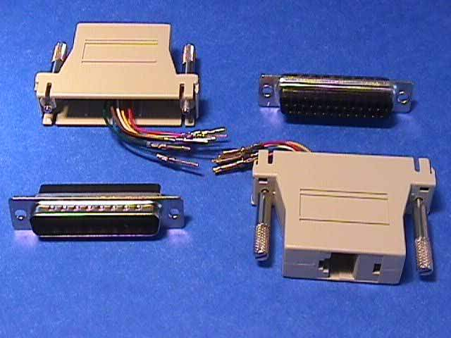 RJ45 To DB25-Male Modular Adapter