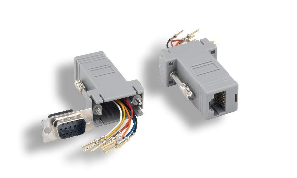 RJ45 to DB9-Male Modular Adapter